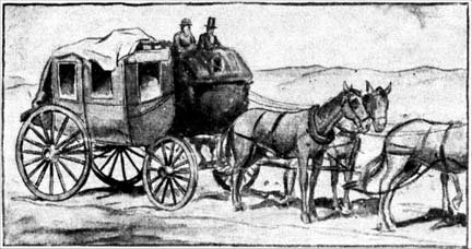 Drawing of the Stage Coach Line from 1816