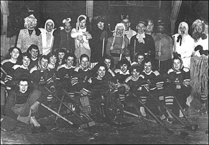 Windsor Academy Girls Hockey Team and Local Gyros 1948