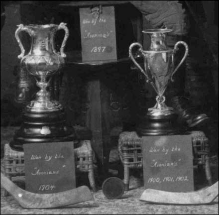 """Avonian's Citizen's Trophies 1900 to 1904 (""""MicMac"""" Sticks and a Rolled Edge Puck)"""