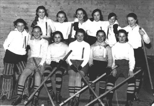 Windsor Academy Girls Hockey Team 1936
