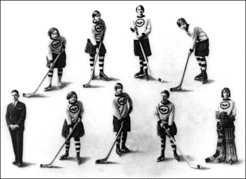 Wolfville Women's Ice Hockey Team 1928